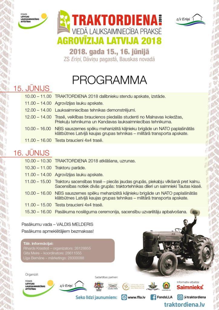 Traktordiena programma 2018